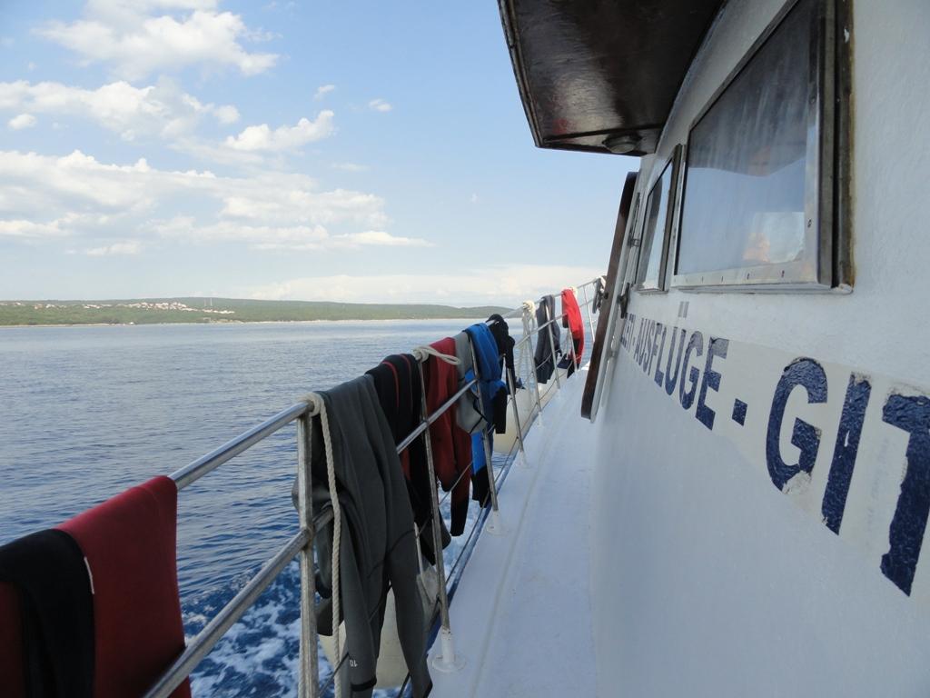 Tauchboot Krk unterwegs © Cora Berger