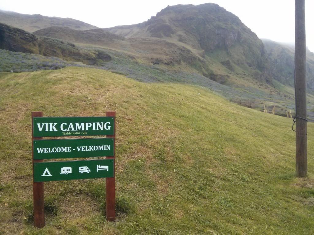 Camping Vík Eingang © Cora Berger