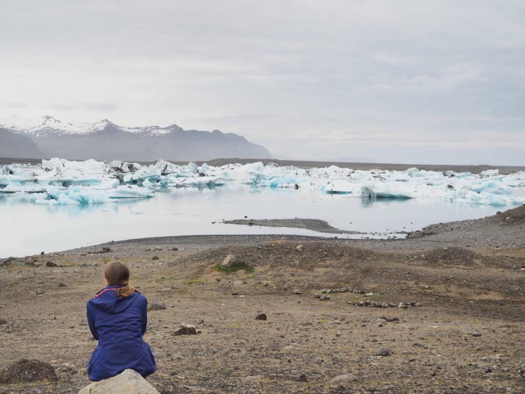 Cora vor der Eislagune © Markus Backes