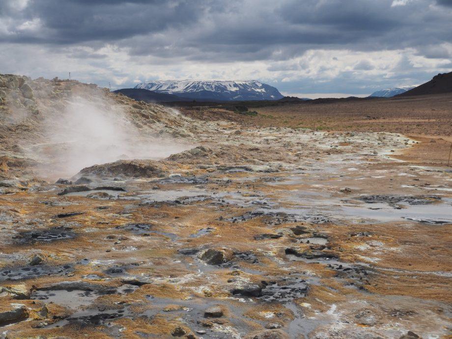 Unwirkliche Landschaft bei Hverir