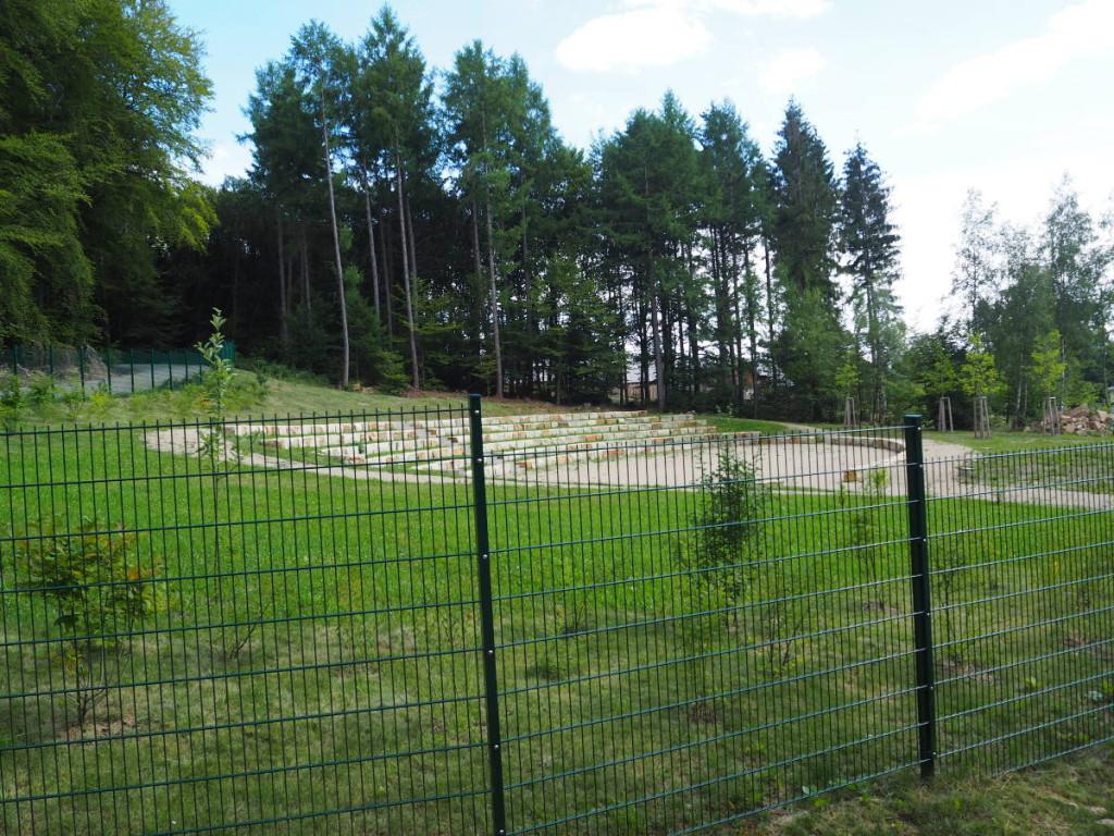 Keltenpark Otzenhausen Arena Zaun © Cora Berger