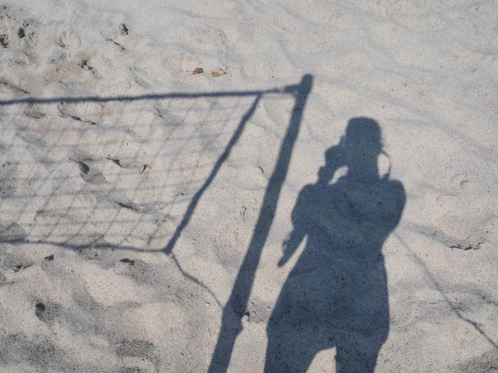 Selfie im Sand am Rastatter Freizeitparadies © Cora Berger