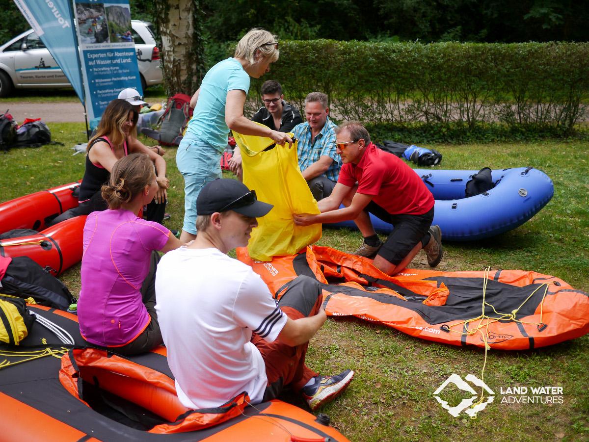 Einweisung Packrafting Nahe Land Water Adventures © Dr. Sebastian Schmidt, Land Water Adventures