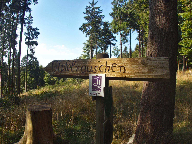Holzschild Traumschleife Gipfelrauschen © Cora Berger