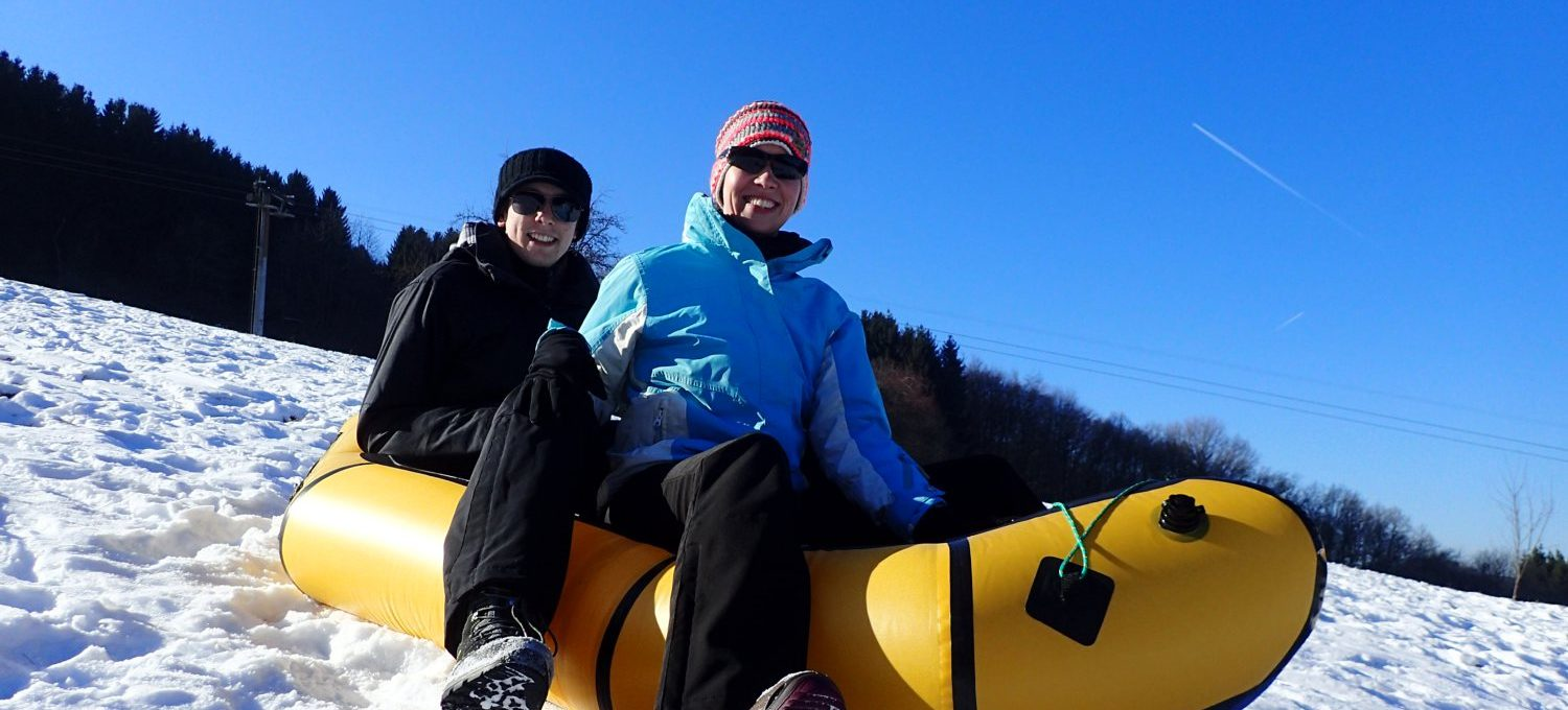 Snowrafting Peterberg © Cora Berger & Markus Backes