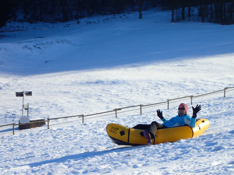 Spaß beim Snowrafting am Peterberg im Saarland © Markus Backes & Cora Berger