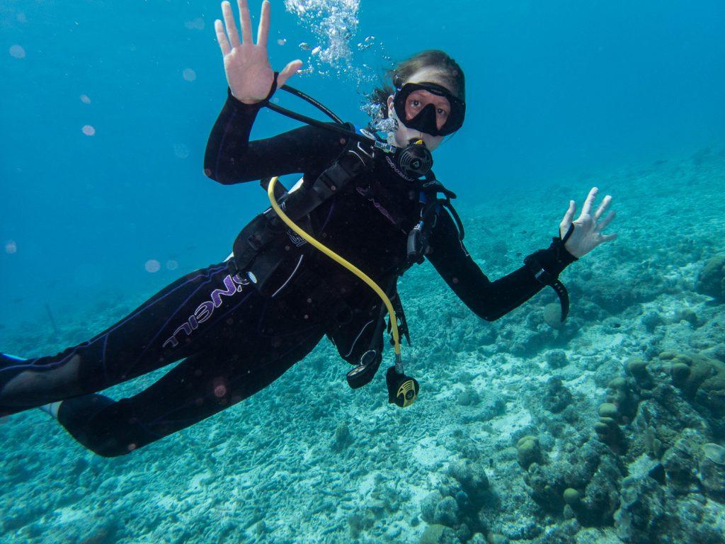 Cora unter Wasser vor Curaçao © Markus Backes