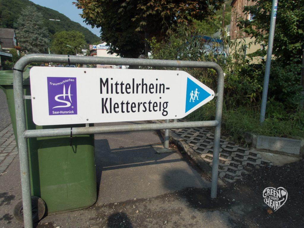 Einstieg zur Traumschleife Mittelrhein-Klettersteig in Boppard © Cora Berger | greenshapedheart.de
