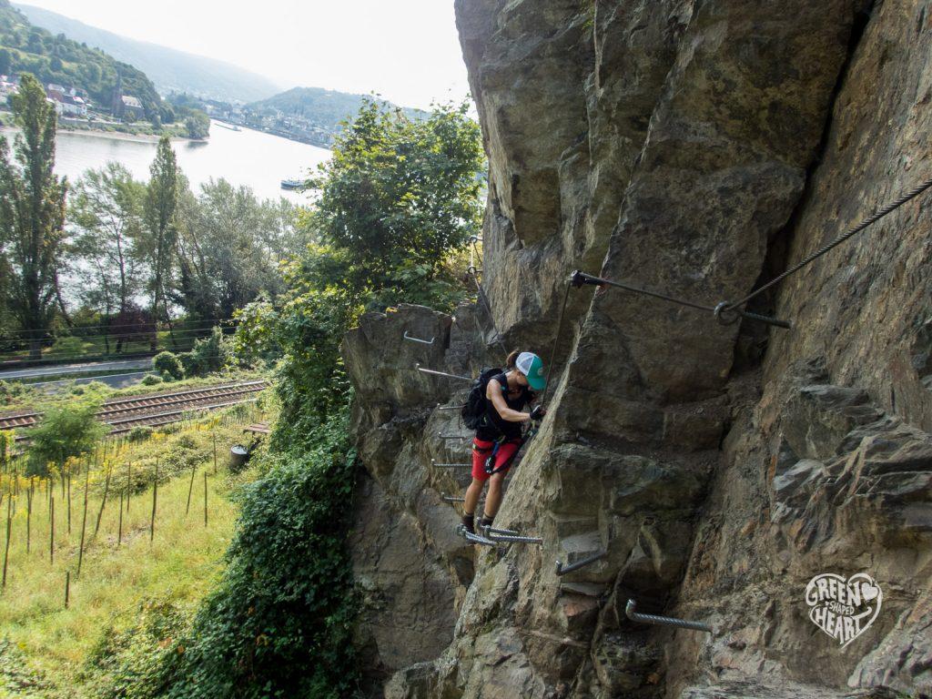 Klettersteig Rhein : Klettersteigen vol mittelrhein klettersteig boppard green