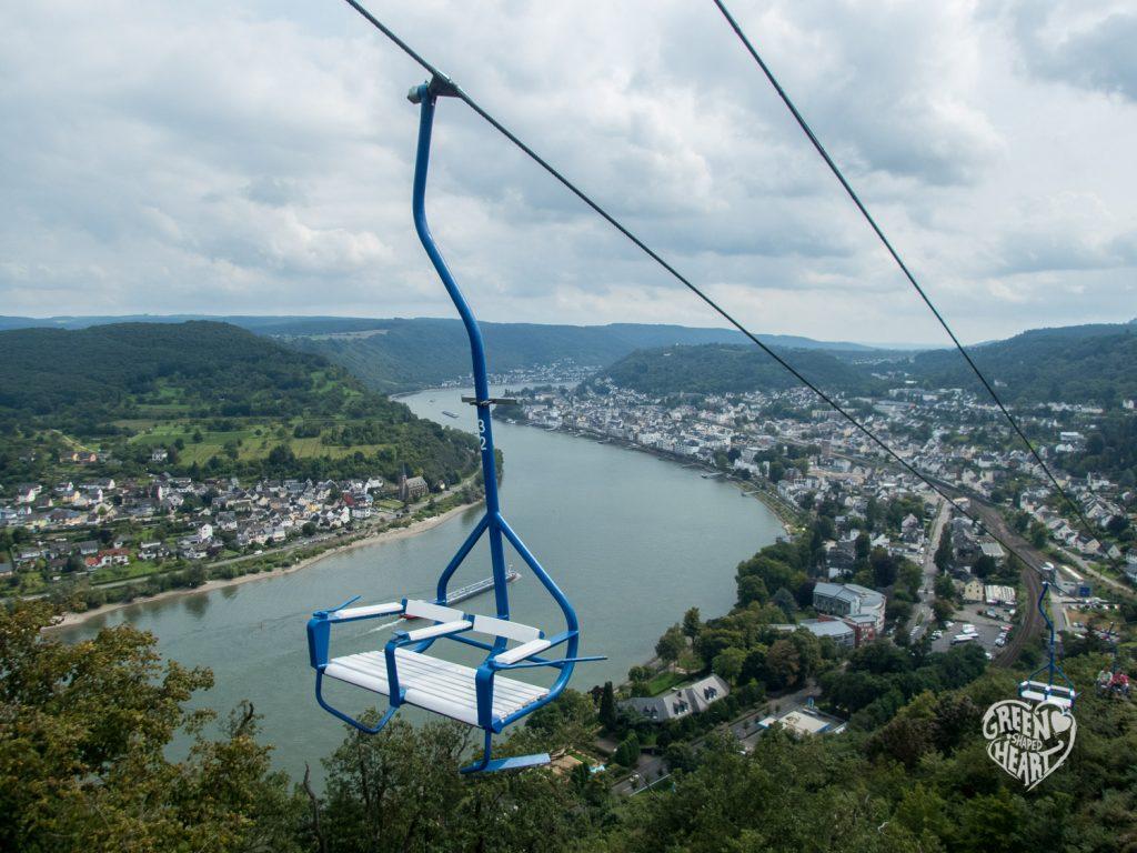 Blick von der Sesselbahn Boppard © Cora Berger | greenshapedheart.de