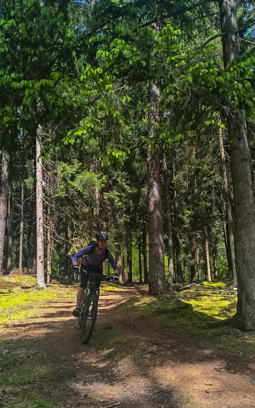 Cora auf dem MTB im Homburger Wald © Mirella Golesne, sportfreundin