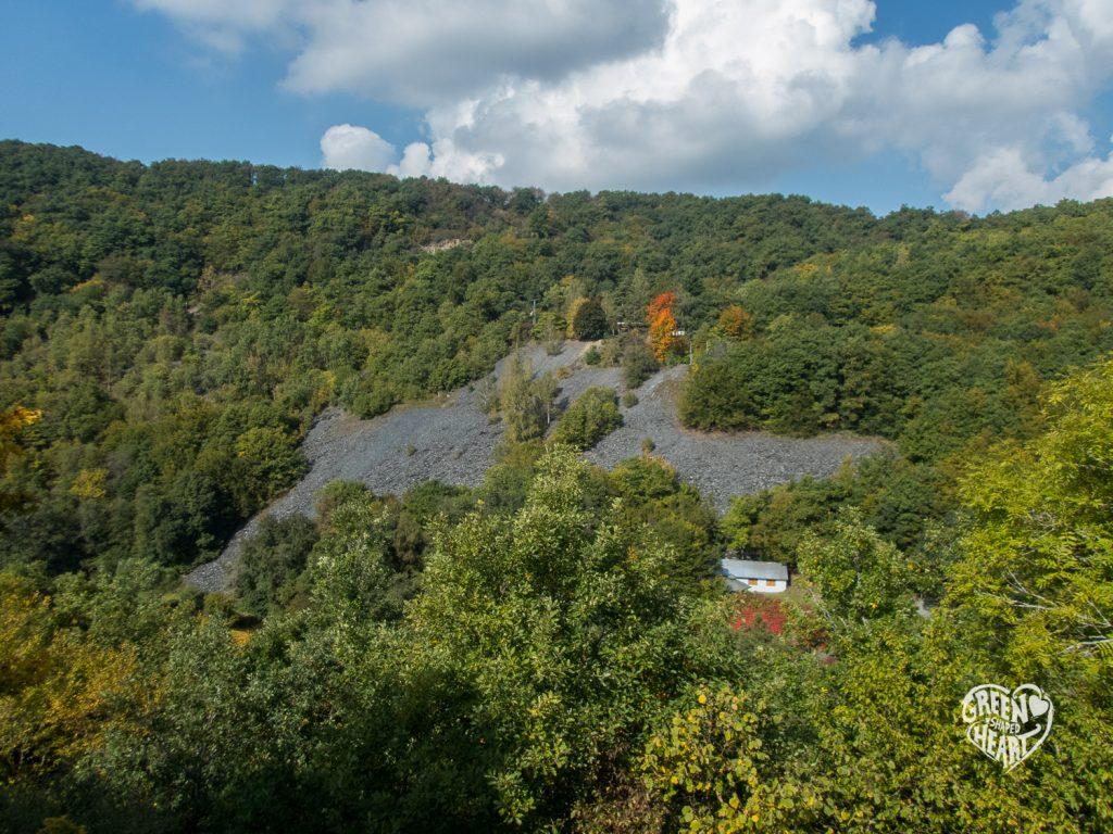 Blick auf das Besucherbergwerk Herrenberg © Cora Berger | greenshapedheart.de