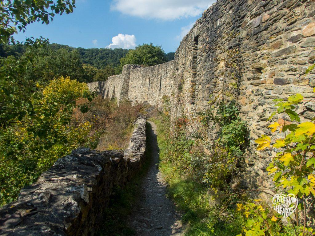 Mauern der Schmidtburg im Hahnenbachtal © Cora Berger | greenshapedheart.de