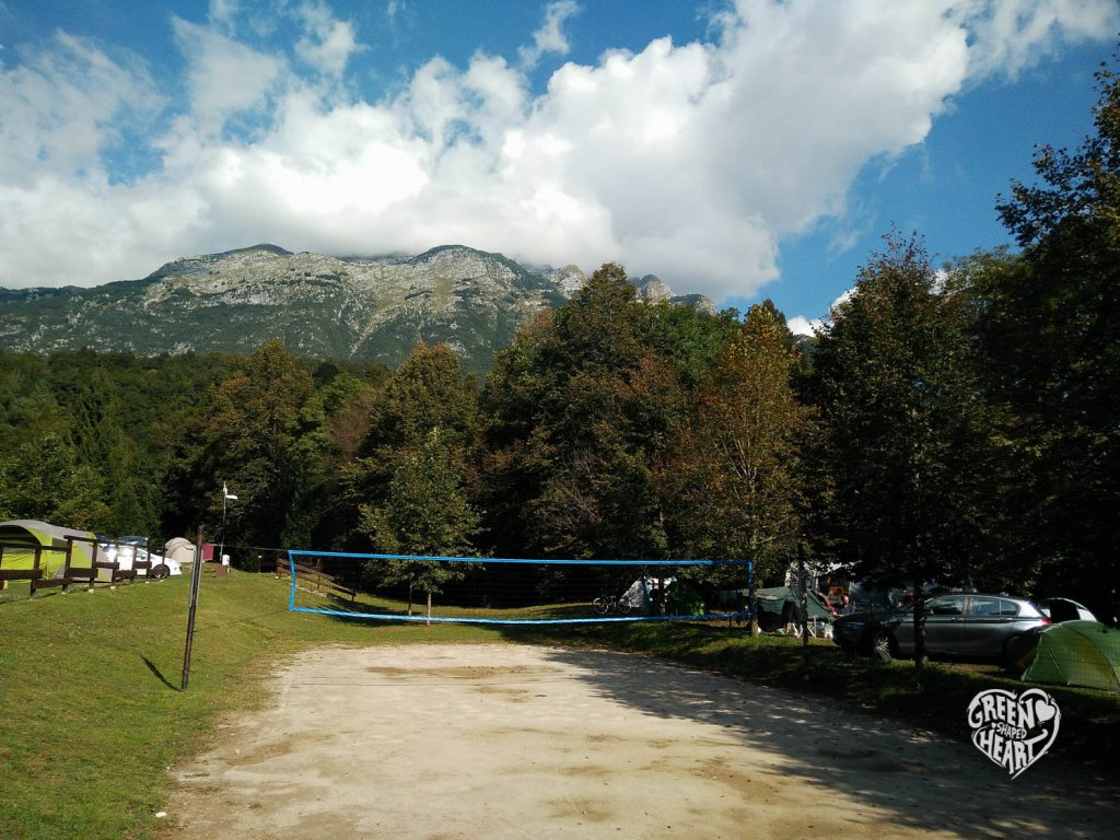 Camp Liza, Soca, vor Julischen Alpen © Cora Berger | Green Shaped Heart